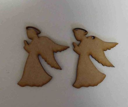 Wooden mdf angel craft shapes tags tree decor 6 PACK 3mm Thick